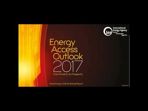 Webinar :  Energy Access Outlook 2017, from Poverty to Prosperity