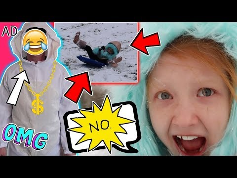 HILARIOUS SLEDGING FAIL! + MUM GETS PAYBACK! | 'DISNEY'S A WRINKLE IN TIME'