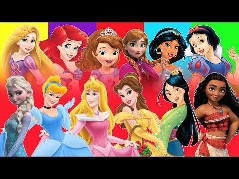 Counting 1-50 with Disney Princess and Prince Frozen Aurora Sofia Snow White || ChildrenSongs Guera