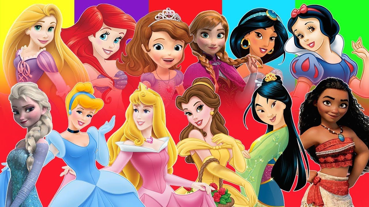 Counting 1-50 with Famous Princess of the World ...