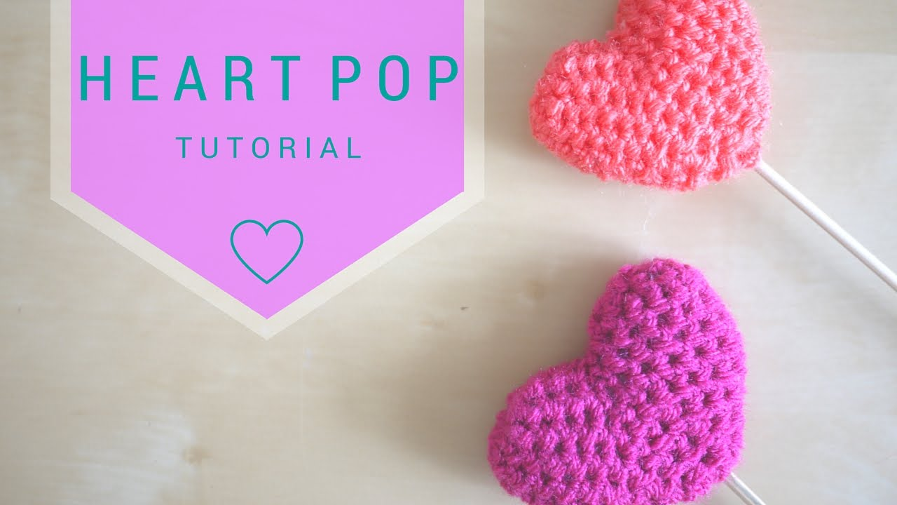 how to crochet a {tiny} heart! | Crochet heart pattern, Crochet ... | 720x1280