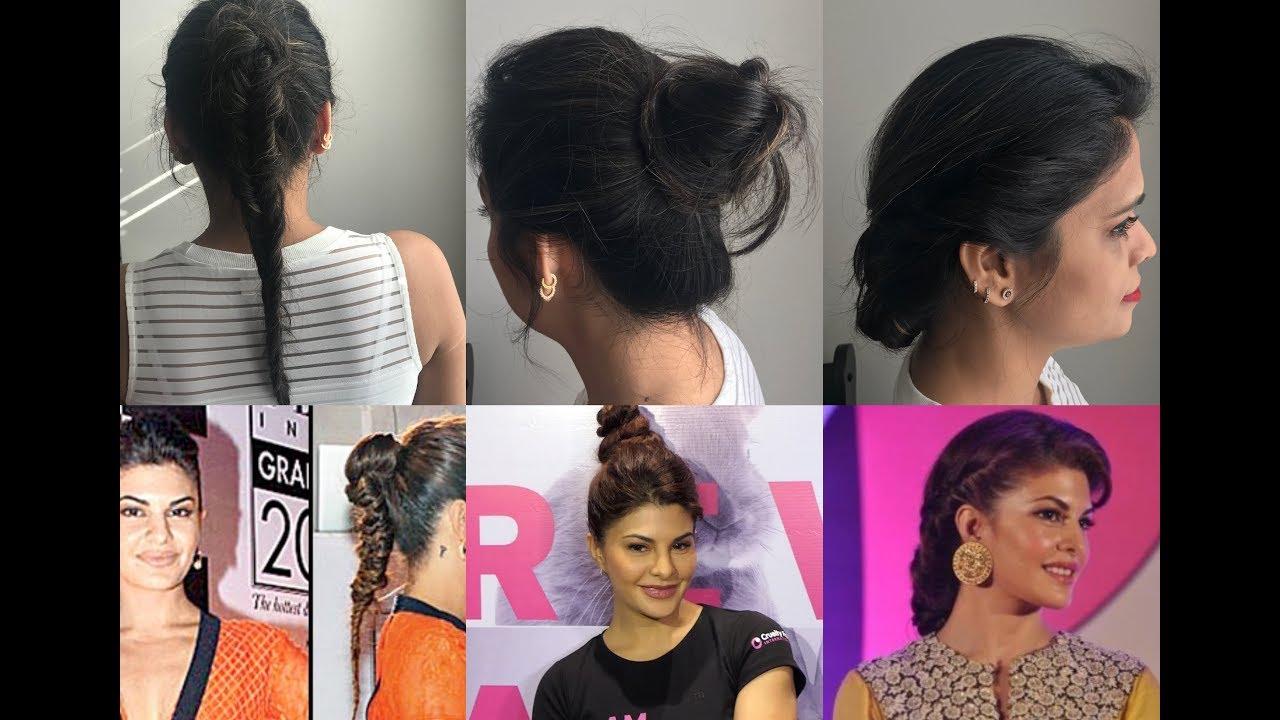 Jacqueline Fernandez Inspired 3 Very Easy Hairstyles Youtube