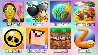 Slither.io Brawl Stars Minecraft Noob vs Pro 2 Planet Craft Zombie Safari Bomber Android Games