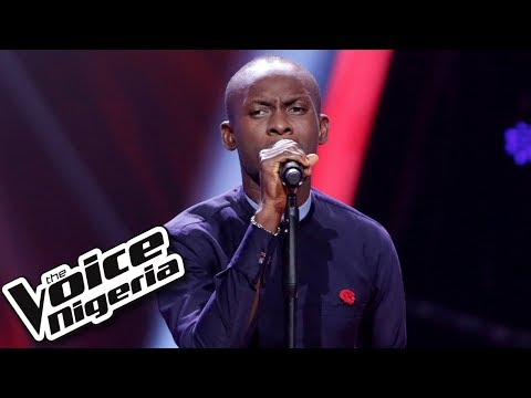 "Okafor Emmanuel sings ""Step in the name of love""  Blind Auditis  The Voice Nigeria Seas 2"