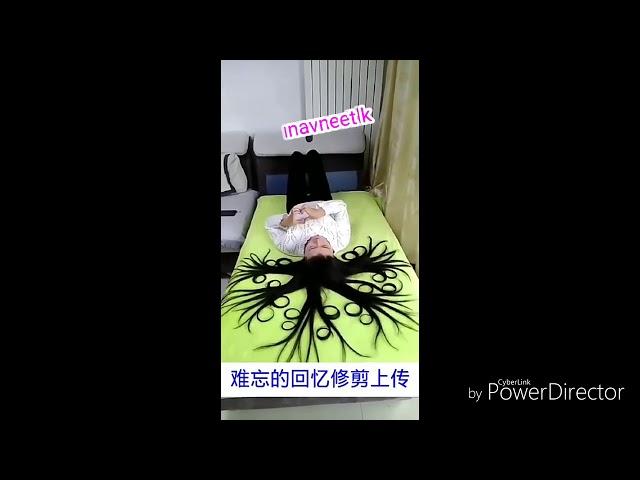 Video of gril magic hair