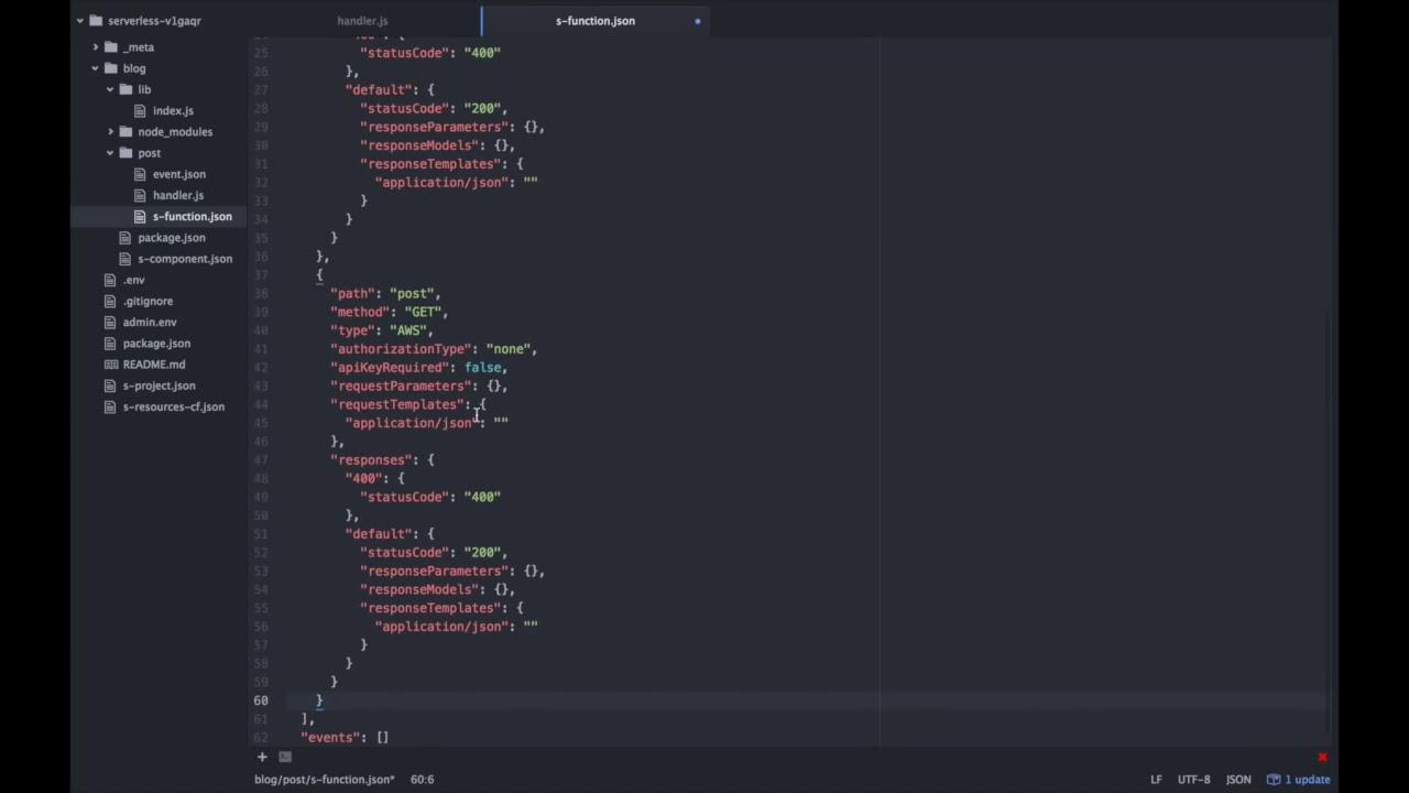 Getting started with Serverless, Lambda nodejs, API Gateway, DynamoDB
