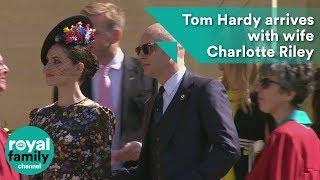 Royal Wedding: Bald-headed Tom Hardy arrives with wife Charlotte Riley