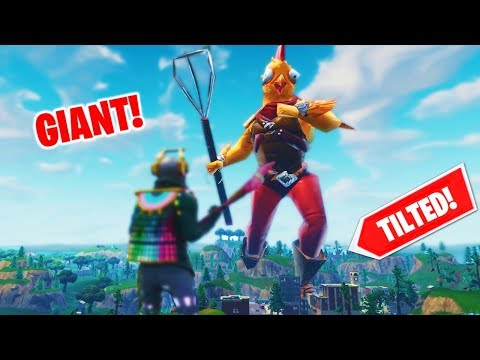 Becoming GIANT and TROLLING players in Fortnite