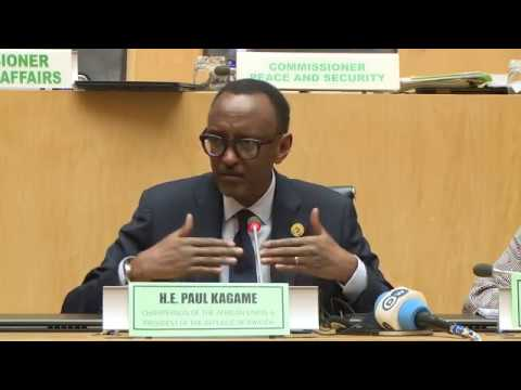 President Kagame holds a press conference at the 30th African Union summit