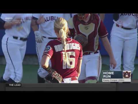 Auburn Softball Vs Florida State WCWS Highlights