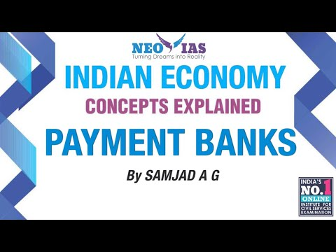 Payment Banks | Prelims 2017 Current Affairs | Indian Economy