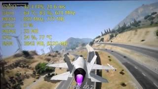 Medion Akoya: GT 630M - i3 2350M | Gaming test #6: GTA V/5 - Benchmark