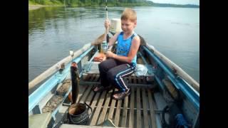 річка Бирюса, риболовля, 2015 р. липень.