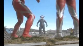 Ultraman e Ultraman Mebius vs Mefilas - Luta completa (full fight)