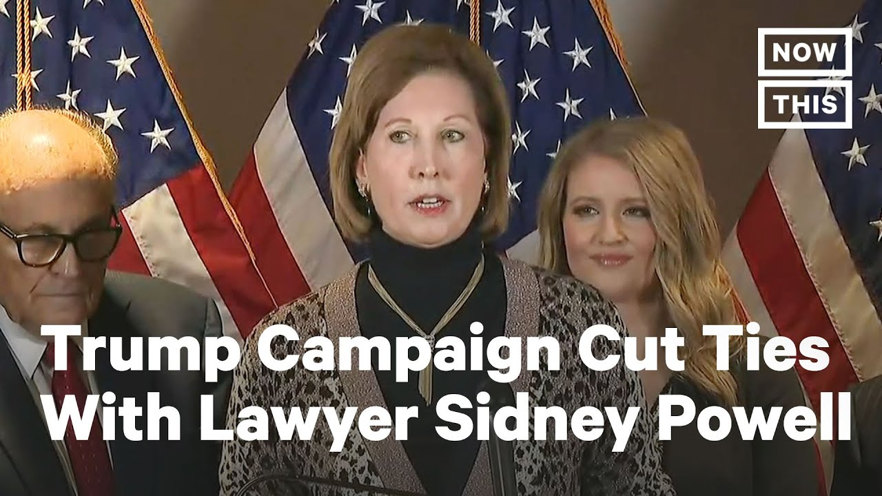 Trump's Legal Team Cuts Ties with Crackpot Lawyer Sidney Powell