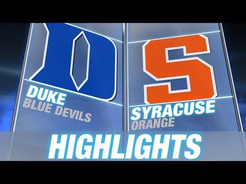 Duke vs Syracuse   2015 ACC Men