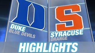 Duke vs Syracuse | 2015 ACC Men