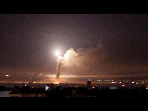 Bombardeo De Israel Contra Objetivos Iraníes En Siria