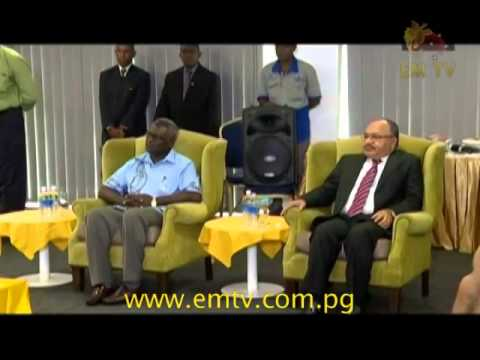 Prime Minister Peter O'Neill in Honiara