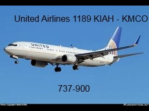 United Airlines Full Flight Houston to Orlando