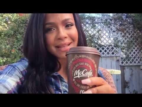 Christina Milian's #McCafe #MOMent