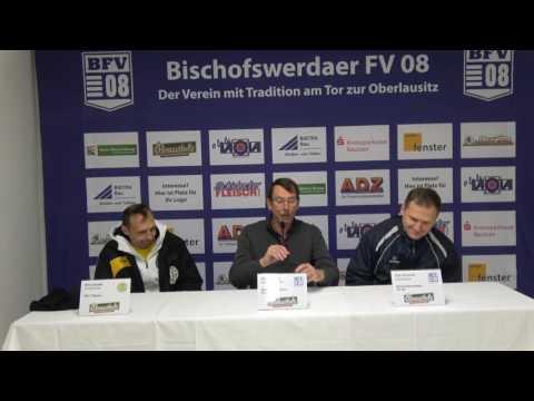 Pressekonferenz Sachsenpokal-Viertelfinale I Bischofswerdaer FV 08 - VFC Plauen 2:1 n.V.
