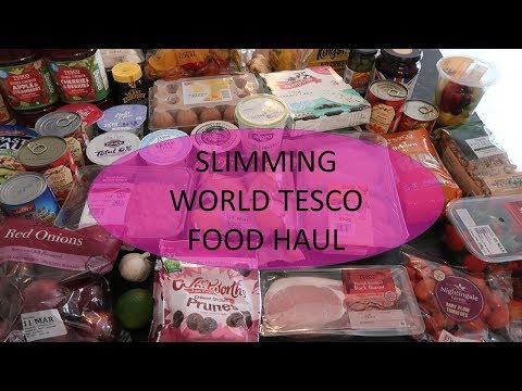 SLIIMING WORLD HEALTHY TESCO FOOD HAUL