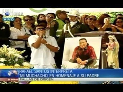 Funeral Diomedes Díaz: Rafael Santos despidió a su padre