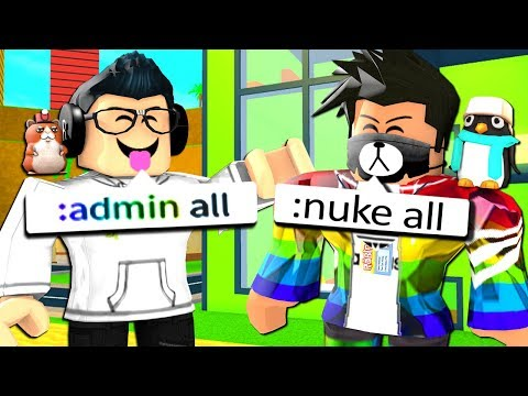 GIVING EVERYONE ADMIN COMMANDS!! (Roblox)