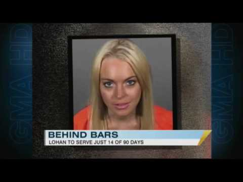 Lindsay Lohan Spends First Night in Jail