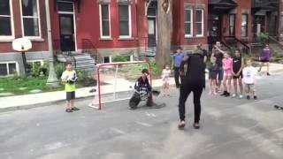 PK Subban street hockey in SoDo