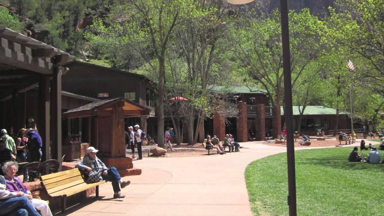 Zion national park utah zion lodge youtube for Cabin zion national park