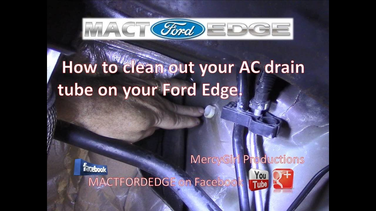 how to clean out your ac drain tube on your ford edge [ 1280 x 720 Pixel ]