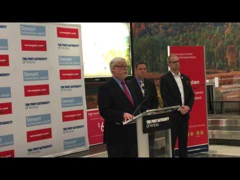 Patrick Foye welcomes non-stop Norwegian Air service  to Stewart International Airport