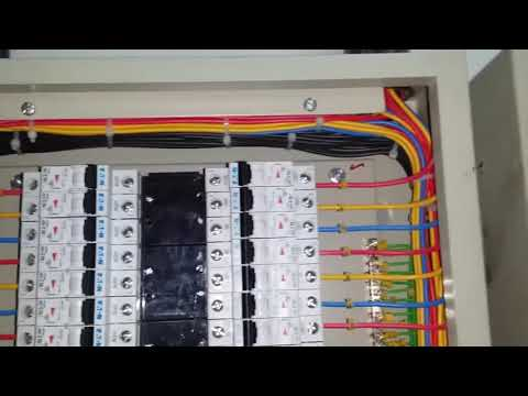 3 phase DB termination Ac panel dressing How to cable dressing