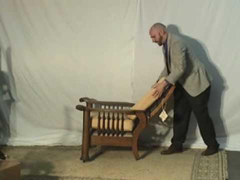 Antique Tiger Oak Morris Chair