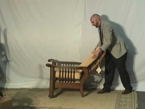 - Antique Tiger Oak Morris Chair - YouTube