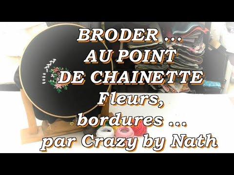 Broder Au Point De Chaînette Fleurs Et Bordures