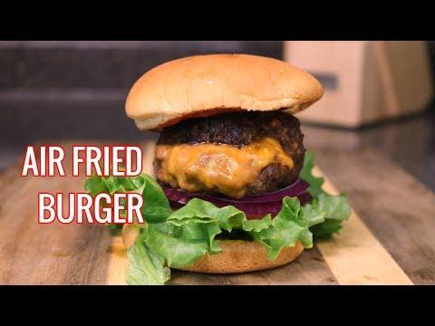 Air Fryer Cheese Burger