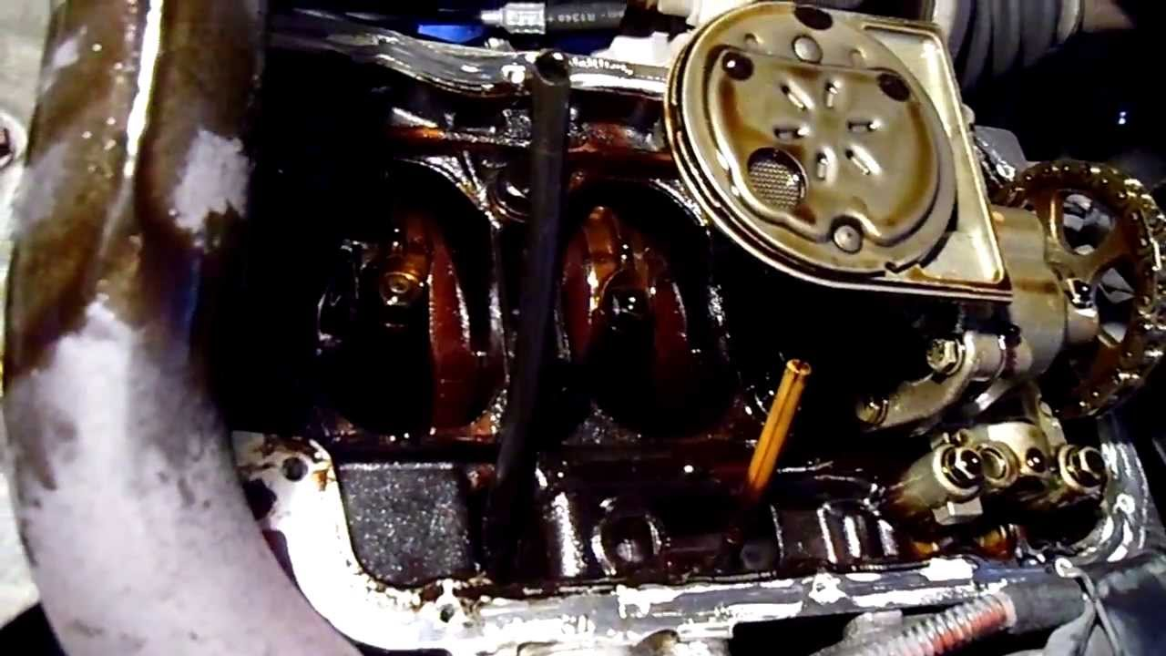 2003 Peugeot 206 1 4 Sump Oil Pan Removed Youtube