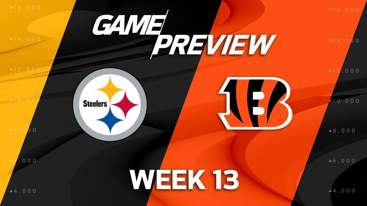 Pittsburgh Steelers Vs Cincinnati Bengals Nfl Week 13 Game Preview Nfl Playbook