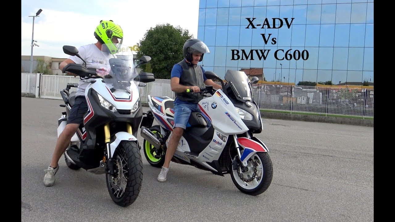 honda x adv 750 vs bmw c600 youtube. Black Bedroom Furniture Sets. Home Design Ideas