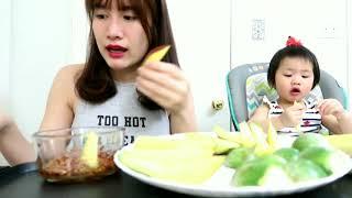 MẮM CÀ THÁI LAN, MẮM XOÀI VIỆT NAM - Mango w/ Spicy Sauce