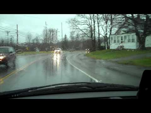Calais, Maine: North Street Flooding near Police and Fire Stations due to December rains 2010