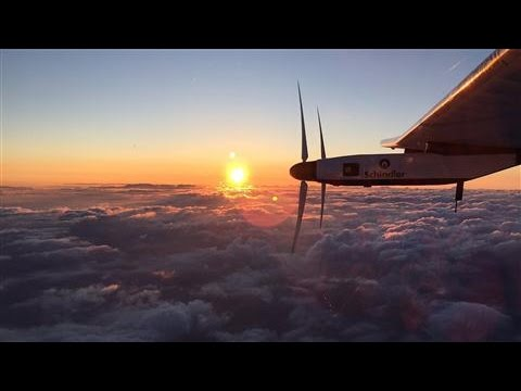 Solar Plane Leaves Japan for Hawaii