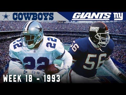 The Emmitt Smith Game! (Cowboys vs. Giants, 1993) | NFL Vault Highlights