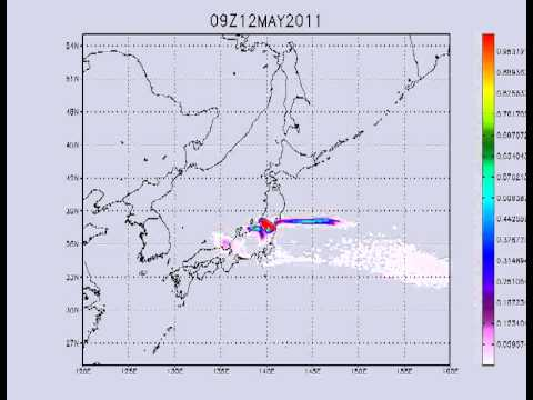 08.05.2011. Fukushima. Xe 133 possible transport. 7 days forecast.