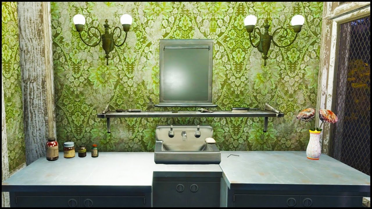 How To Build A Mirrored Vanity Display Fallout 4 No Mods Shop Class Youtube