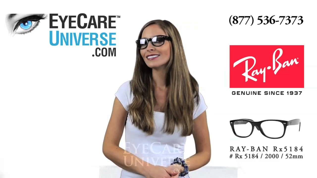 ec77715ae0 Ray Ban Rx 5184 2000 Shiny Black 52mm Quick Review - YouTube