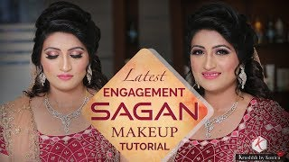 Sagan And Engagement Makeup Tutorial | Step By Step Eye And Face Sagan Makeup | Krushhh By Konica